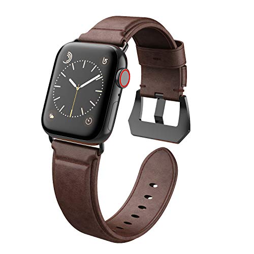 Compatible with Apple Watch Band 42mm 44mm, EPULY Genuine Leather Replacement Band, Strap for iWatch Series 5/4/3/2/1 with Case