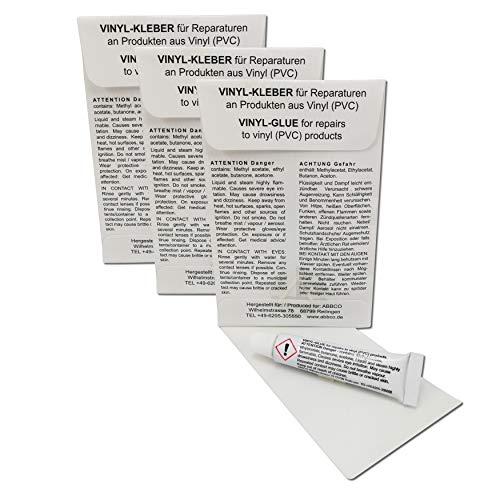 ABBCO Set de reparación de adhesivos y parches para cama de agua, piscina, waterpolo y colchón hinchable