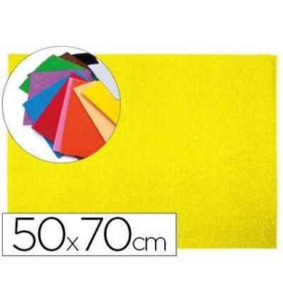 Liderpapel - Goma eva 50x70cm 60g/m2 espesor 2mm textura toalla amarillo (10 unidades) 🔥