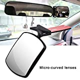 Gereton Baby Auto-Spiegel, Verstellbare Rotation, bruchsicher, um 360 Grad drehbar, sicherer Bruchsicherer Spiegel für Baby