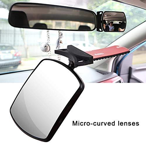 Zaote Drehbarer Auto Rückspiegel Zusatzspiegel für das Beobachten des Rücksitz Nachtspiegel Anblicks hinten