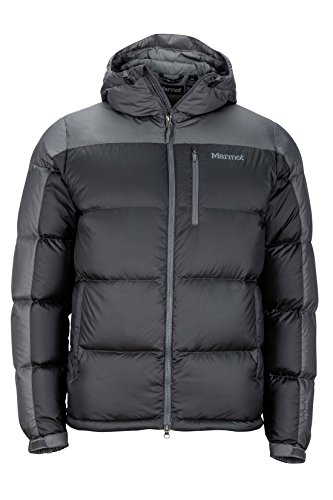 Marmot Men's Guides Down Hoody Winter Puffer Jacket, Fill Power 700, Slate Grey/Cinder, Large