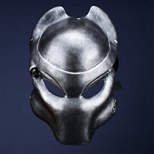 New Version Resin Predator Falconer Costume Adult Mask Replica (Silver)