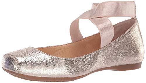 Jessica Simpson Women's Mandalaye Ballet Flat , Gold (Purple Orange 717), 5 M US