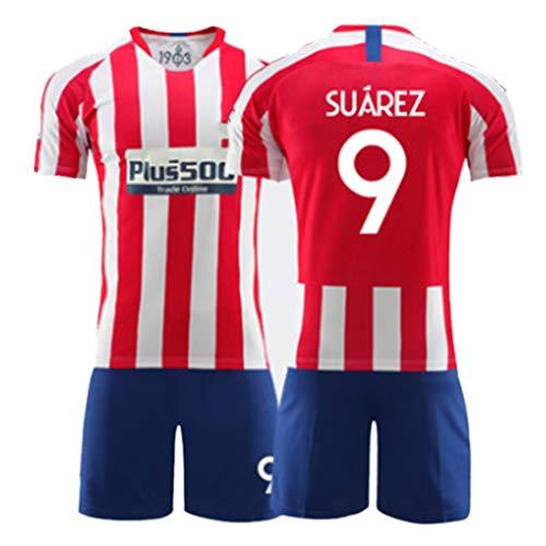 YUUY Fußball Uniform Anzug Luis Alberto Suarez # 9 Fußball T-Shirt Anzug, Schnelltrocknung Fan Uniform, Feiertagsgeschenk (Color : B, Size : Child-22)