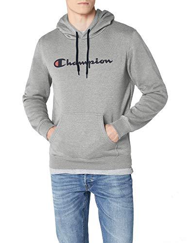 Champion Herren - Classic Logo Kapuzenpullover - Grau, L