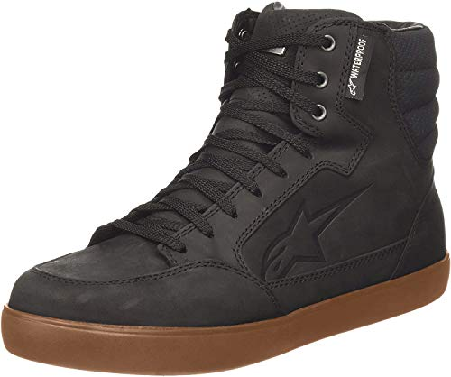 Alpinestars Men's J-6 Waterproof Motorcycle Riding Shoe, Black/Gum, 12