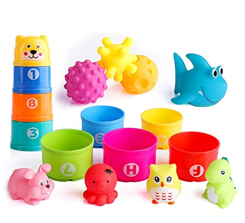Stacking Cup Bath Toys for Toddlers