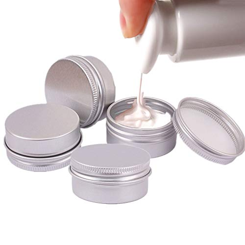 hanbby Botes Viaje Avion Tarros Cosmeticos Frascos pequeños con Tapas Los contenedores con Tapas Kit de Botella de Viaje Macetas de Muestra para cosméticos