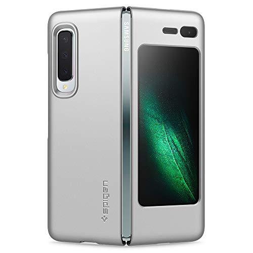 Spigen 615CS26160 Thin Fit Kompatibel mit Samsung Galaxy Fold Hülle, Slim PC Schale Hardcase Leicht Dünn Schutzhülle Handyhülle Hülle Satin Silber