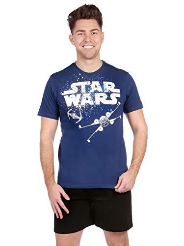 Star Wars Pijama para Hombre La Guerra de Las Galaxias Azul Size Small