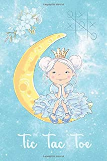 Tic Tac Toe: Beautiful Anime Girl on the Moon- Paper & Pencil Games - 2 Player Fun Activity Book of Tic-Tac-Toe , 120 Page...