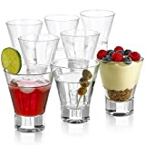 Cocktail Glasses 8 Ounce - Set of 8 Seamless Cosmopolitan, Martini Glasses with Heavy Base – Perfect Glassware for Home Bar, Restaurant, Parties - Beautiful Housewarming Gift