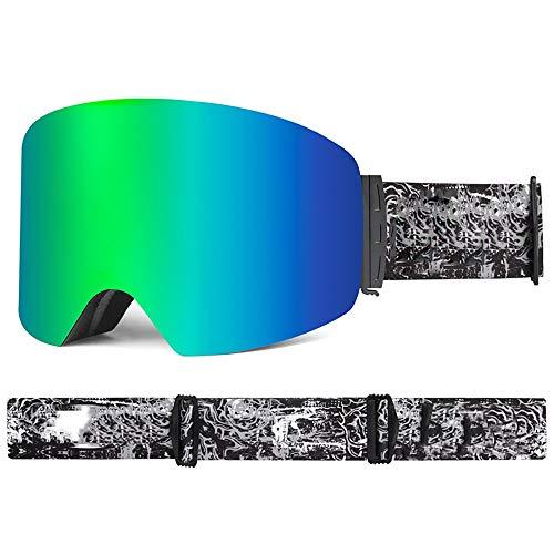 FGGTMO Supertrip Gafas de esquí, esquí Snowboard Gafas de Doble Lente con Anti Niebla Hombres, Mujeres, Compatible con Casco, for el esquí, Patinaje, Deporte al Aire Libre (Color : F)