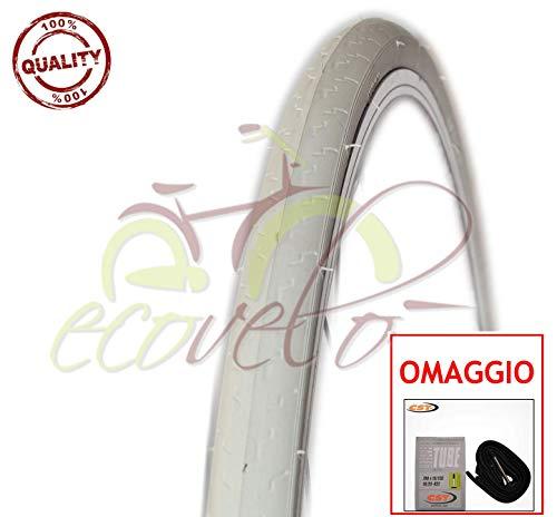 COPERTONE + Camera d'Aria Bici Ciclo Scatto Fisso Bianco 700X25C