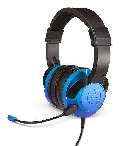 PowerA Fusion, Kabelgebundenes Gaming-Headset  - Abnehmbares Mikrofon -  Kompatibel mit PlayStation 4, Xbox (One, One X, One S, 360), Nintendo Switch, Mac-PC, Android, IOS – Blasses Saphirblau