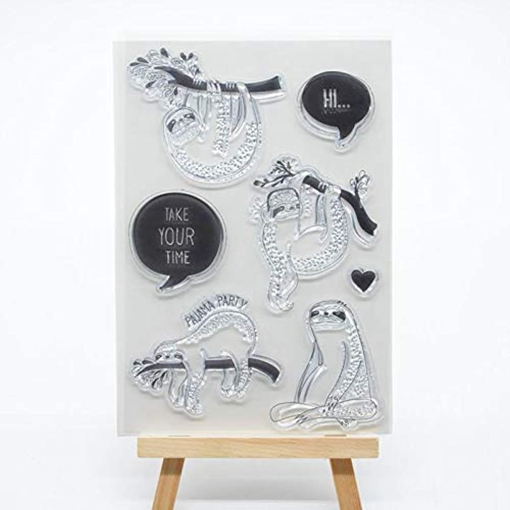 Welcome to Joyful Home 1pc Sloth Rubber Clear Stamp for Card Making Decoration and Scrapbooking