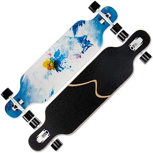 Zjcpow Pro Skateboard Cruiser Penny Brett 41 Zoll Freestyle Skateboard Longboard Cruiser for Teens Anfänger Mädchen Jungen Kids Teens Erwachsene, Ahorn-Holz-Doppel Kick-Tricks Skateboard xuwuhz