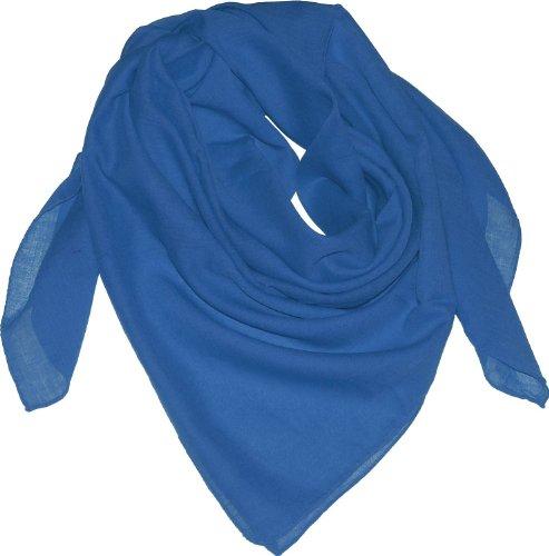 Harrys-Collection Damen Herren Baumwolltuch in vielen Farben 100 x 100 cm, Farben:royalblau, Größen:Einheitsgröße