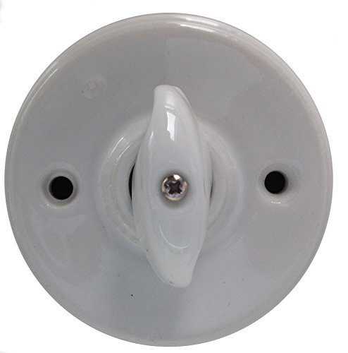 Electraline 70171 Interruttore Elettrico/Deviatore, Ceramica, Bianco