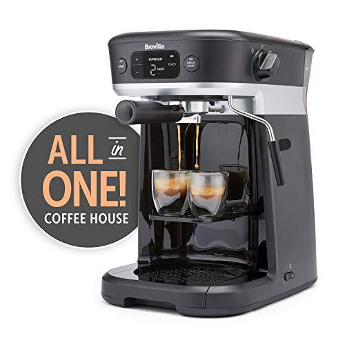 Breville All-in-One Coffee House, Espresso, Filter and Pods Coffee Machine with...