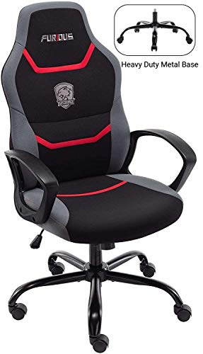 Gaming Chair Racing Style Office Chair Swivel Computer Gamer Chair with Fully Foam, Esports Video Game Chair Lumber Support