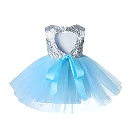 Blue02 Tulle Tutu Baby Dress With Sequins