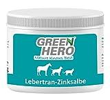 Green Hero Lebertran-Zinksalbe für Pferde Hunde und Katzen 500 g Zink Salbe Pflegt die Haut und unterstützt sie bei Wunden Abschürfungen Reizungen Mauke und vielen Anderen Hautproblemen