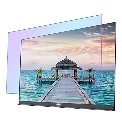 GFSD Protector de Pantalla de TV Luz Anti-Azul 27-75 Pulgadas, Antideslumbrante/Antiarañazos Película Protección Ocular for LCD, LED, OLED Y QLED 4K HDTV
