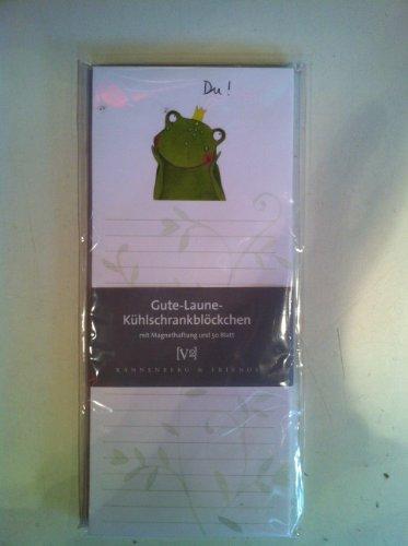 Rannenberg Kühlschrankblock Magnetblock Du Frosch 50 Blatt grün weiß