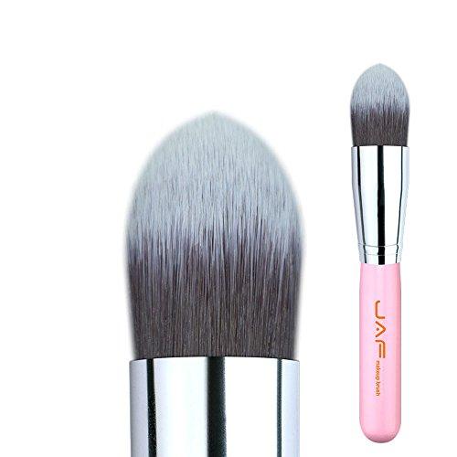 Détail 18SSYJ Tapered Kabuki Brosse pour Maquillage Liquide Crème Fond de Teint Souple Synthétique Taklon Cheveux Make Up Brush (Color : Pink)