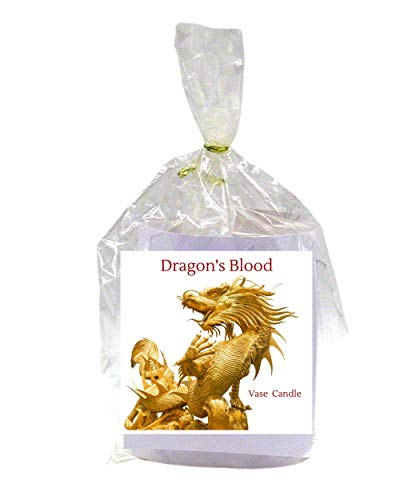 Dragon's Blood Candle - Vase Candle Refill - Scented, Soy, Paraffin Wax Blend, Paper Core, Self-trimming Wick Candle for Refillable Vase, 50 Hour Burn Time