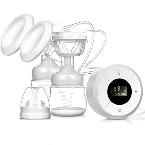 Sacaleches Eléctrico,Extractor de leche eléctrico materna portátil recargable con 3 modos 9 niveles Succión de leche materna, masaje de mama