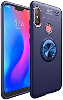 Xiaomi Redmi S2 Case Car Invisible Holder Stand Magnetic Suction Bracket Finger Ring TPU Cover - Navy Blue