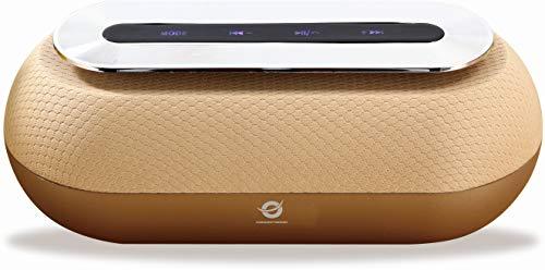 Conceptronic DUNKAN01GL 10 W Oro - Altavoces portátiles (10 W, 60-18000 Hz, 95 dB, 0,5%, Inalámbrico y alámbrico, MicroUSB)