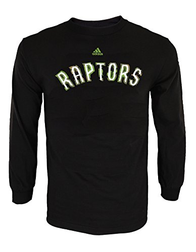 adidas NBA - Camiseta de manga larga para hombre, con gráficos, Atlético, XL, Toronto Raptors - Black