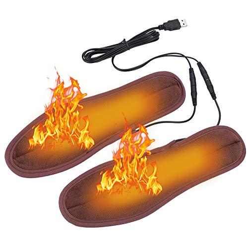 Plantillas Calefacción Eléctrica USB ,Suelas Térmicas Zapatos Más Cálidos Botas Plantillas Mantener los Pies Calentador de Zapatos Calentador Unisex Zapata para Hombres / Mujeres (39-40(25cm/9.8in))