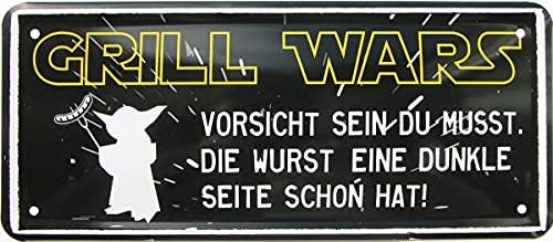 Rahmenlos 1579 Plaque décorative en tôle avec Inscription en Allemand « Vorsicht Wenn sie EIN dunkle » 28 x 12 cm