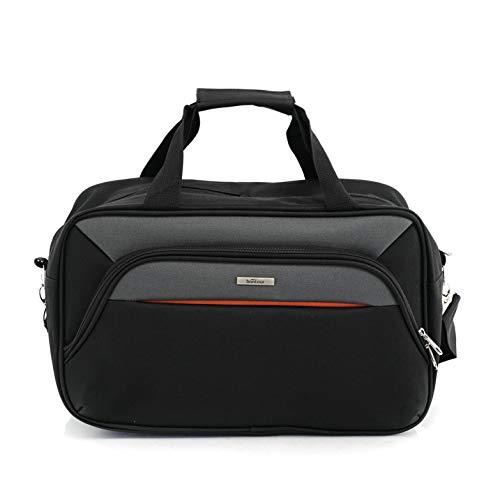 BONTOUR AIR Wochenendtasche Sporttasche Reisegepäck Carry On Luggage Ryanair Handgepäck 40x20x25cm (Dunkelgrau)