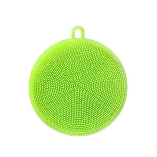 Esponja de silicona para platos de cocina de silicona para fregar platos, cepillo inteligente de cocina, accesorios de cocina, verde 1 pieza