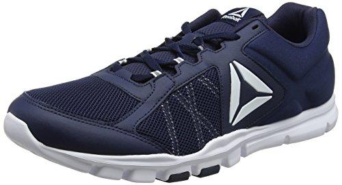 Reebok Yourflex Train 9.0 MT, Zapatillas de Deporte para Hombre, Azul (Collegiate Navy/White), 41 EU