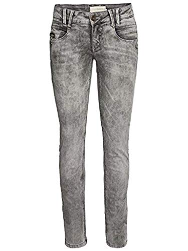 MOGUL Damen Hose Stretch Jeans Alena Grey (30/32, GRAU Washed)