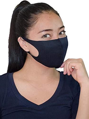 Fashion Mask Cubrebocas de Tela Reutilizable Paquete con 20 Tapabocas Lavable para Adulto (Negro)