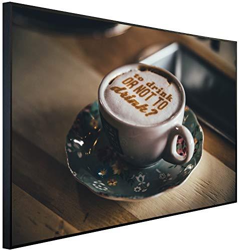 Ecowelle Infrarotheizung mit Bild | 900 Watt | 120x74x3cm | Infrarot Heizung| | Made in Germany | c 116 Kaffee