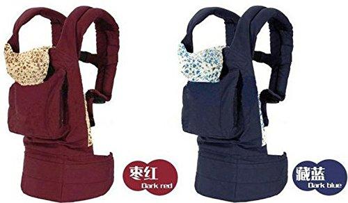 Hivel Fular Portabebes Portador de Bebe Front Back Baby Safety Carrier Infant Comfort Backpack Sling Wrap - Rojo