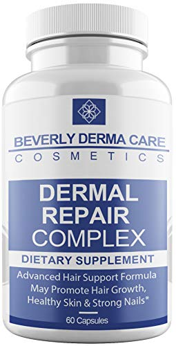 Beverly Dermal Repair Complex Supplement with Biotin, Vitamin B12, Vitamin B6, Vitamin C, Vitamin D & Vitamin E - Best Formula On The Market