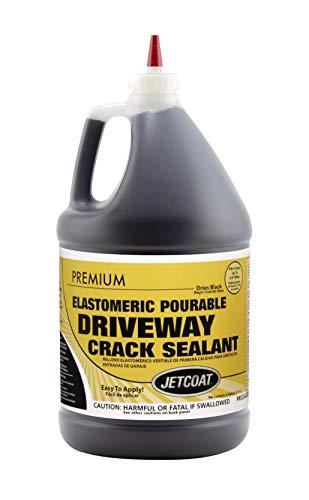 Jetcoat Premium Elastomeric Asphalt Crack Filler and Sealant, Perfect for Blacktop Repair (1 Gallon)