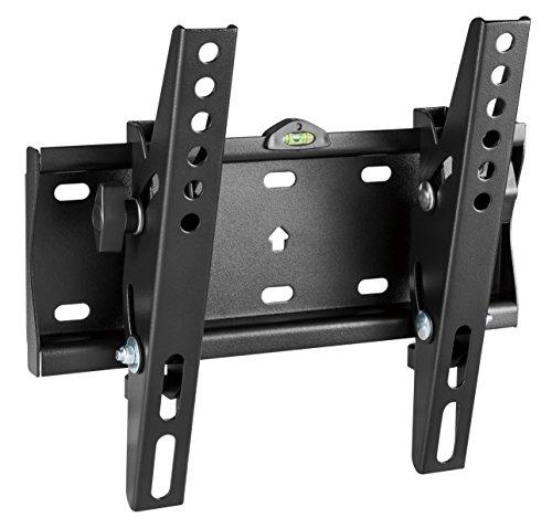 RICOO Flache TV Fernseher-Wand-Halterung Neigbar (N2122) - Universal für 23-42 Zoll (bis 30-Kg, Max-VESA 200x200) LCD Curved-Bildschirm OLED Monitor-Wandhalter