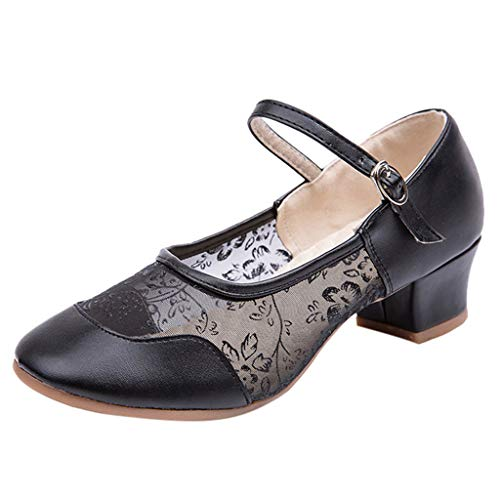 Chaussure Femme Mary Jane Boucle Blanche, LuckyGirls Chaussures de Ville Mary Janes Sandales Ballerines Femme