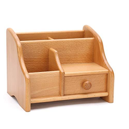 LIANGJING Creative Solide Bois Salon boîte de Rangement Bureau cosmétiques tiroir en Bois Bijoux Finition boîte de Rangement télécommande